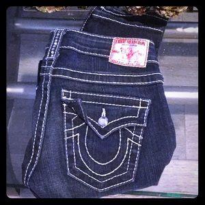 Diamond studded true religion jeans